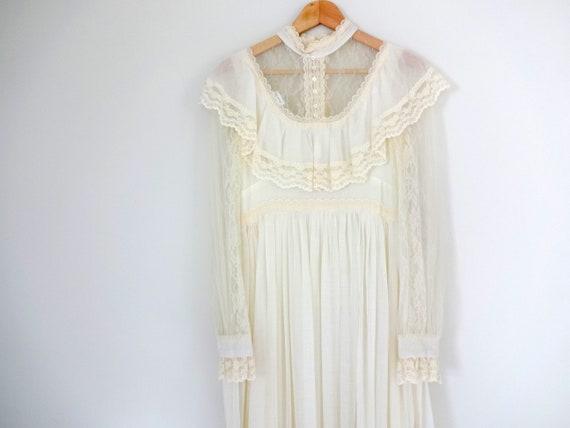 Vintage GUNNE SAX Gown •1970s Clothing • Jessica