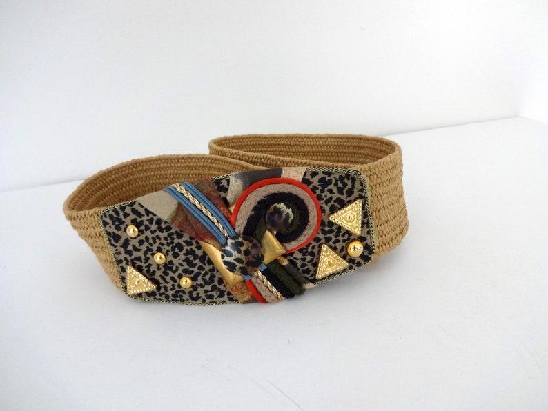 CLEARANCE Vintage HAVANA Belt  1990s Accessories Unique image 0
