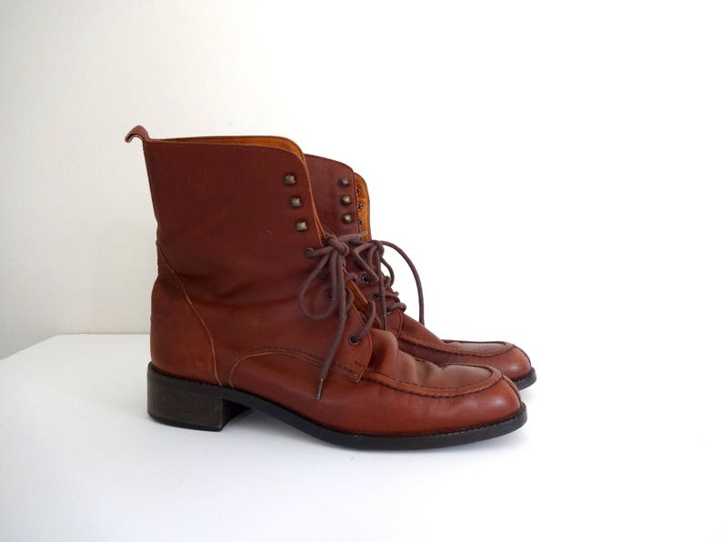 Vintage EDDIE BAUER Boots  1990s Women Shoes  Casual Brown image 0