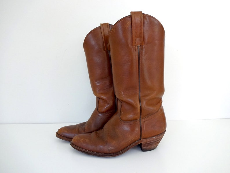 Vintage FRYE Boots  Classic Cowboy Boots  Western Cowboy image 0