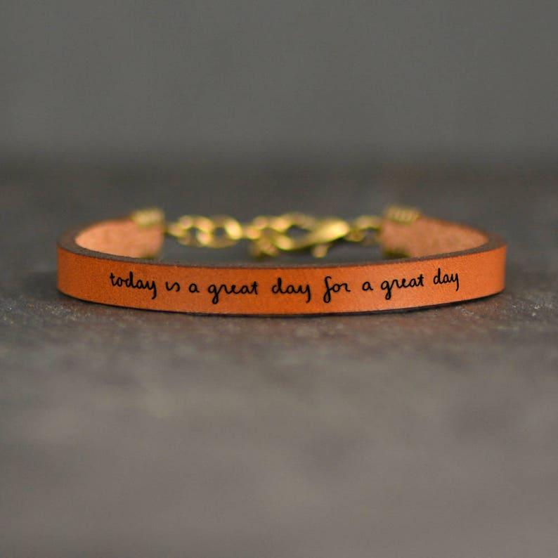 f355d656678 inspirational leather bracelet adoption gifts choose joy carpe diem bracelet  wor... inspirational leather bracelet adoption gifts choose joy carpe diem  ...