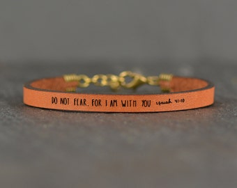 bible verse bracelet   do not fear   leather bracelet   scripture bracelet   isaiah 41   scripture   faith bracelet   laurel denise
