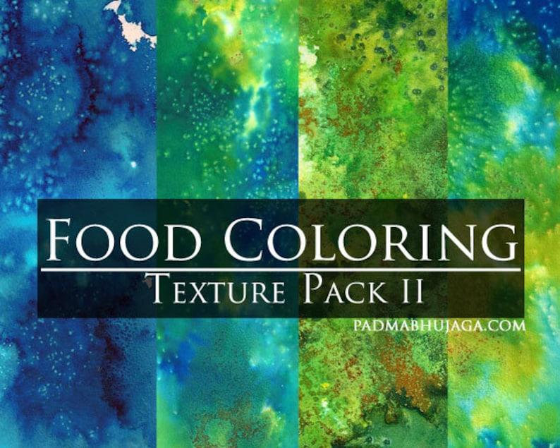 Food Coloring Digital Texture Pack II image 0