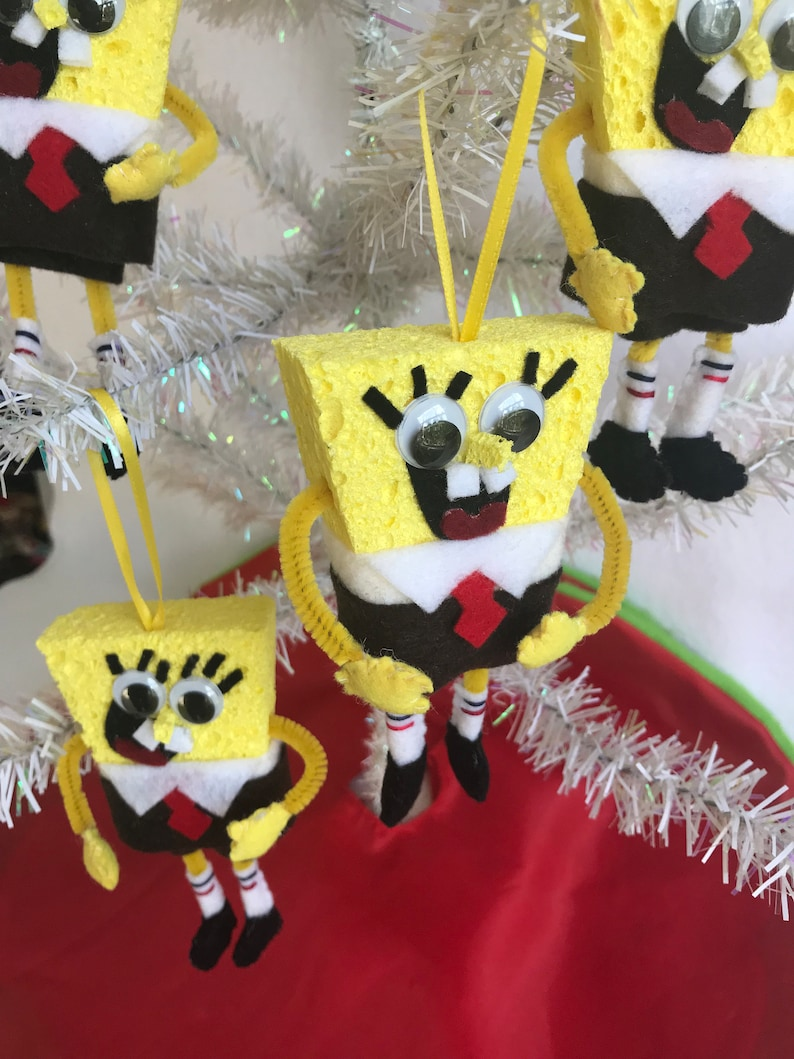 Spongebob Squarepants Felt Christmas Ornament Sponge Bob ...