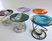 Fused Glass Wax Tart or Oil Warmer Replacement Dish by BPRDesigns