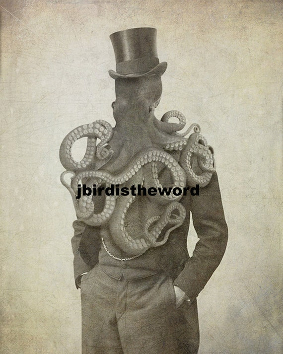 Supernatural Gifts Strange Tentacle Necronomicon Fantasy Creature HP Lovecraft Call of Cthulhu Steam Punk Gift Horror Christmas