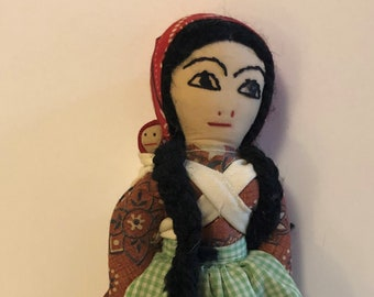 Folkoric Costume Doll with Baby