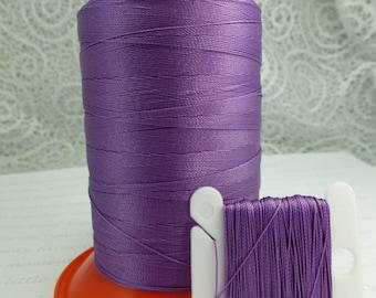 Pattye's VIOLET Serafil Thread, Silk Like Knotting, Beading, Pearl Stringing, Large Spool, Purple, Lavender