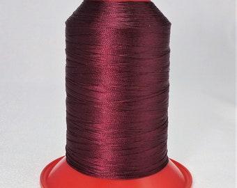 Pattye's BURGUNDY Serafil Thread, Silk Like Knotting, Beading, Pearl Stringing, Large Spool, Deep Red,Maroon