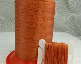 Pattye's CORAL Serafil Thread, Silk Like Knotting, Beading, Pearl Stringing, Large Spool, Orange
