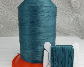 Pattye's TEAL Serafil Thread, Silk Like Knotting, Beading, Pearl Stringing, Large Spool, Blue Green