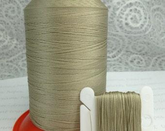 Pattye's TAUPE Serafil Thread Silk Like Knotting, Beading, Pearl Stringing, Large Spool, Neutral Beige