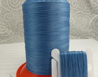 Pattye's BLUE Serafil Thread, Silk Like Knotting, Beading, Pearl Stringing, Large Spool