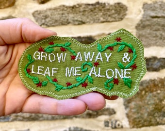 Gift For The Grumpy Botanist. Dad Joke Pun Patch. Embroidered Handmade DIY