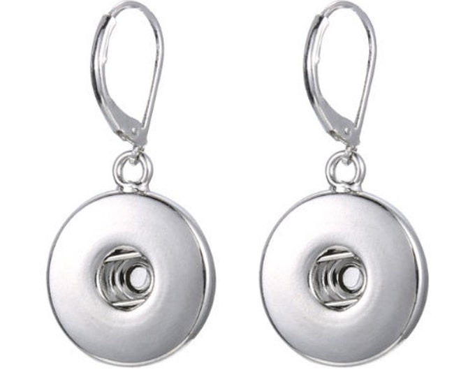 Dangle Interchangeable Snap Earrings - Coordinate with Studio66 LLC Snaps - Compatible with GingerSnaps - Ginger Snaps - Magnolia and Vine