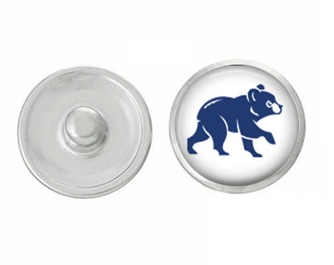 Chicago Cubs - Cubbie Snap - Pair with our Base Pieces - Compatiable with GingerSnaps and Magnolia and Vine Pieces - HandPressed Snaps