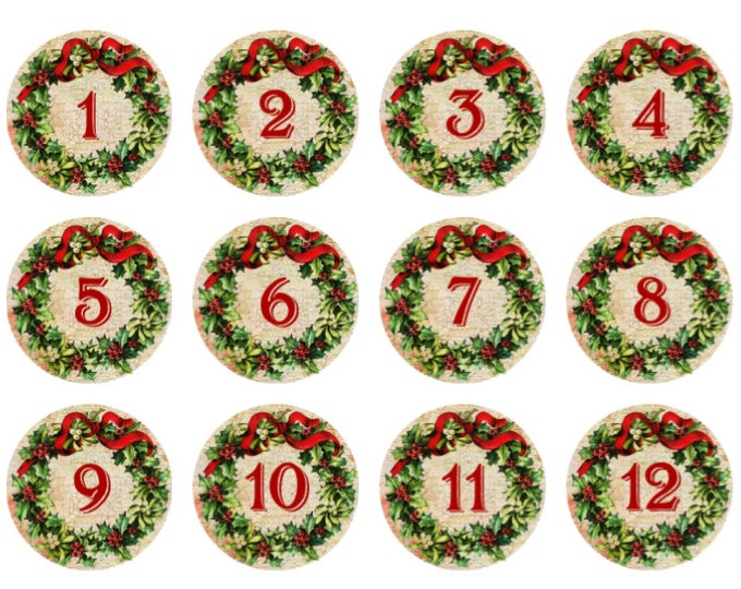 12 Days of Christmas Snaps for Christmas Holiday - Handpressed Snaps - Compatible with Magnolia and Vine and Gingersnaps 18mm - Winter