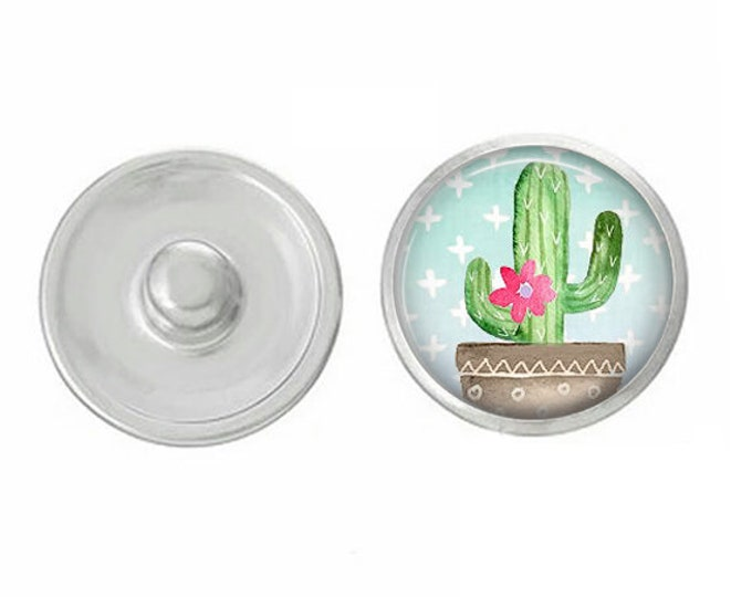 Cactus - Desert Themed Snaps - Pair with our Base Pieces - Compatiable with GingerSnaps and Magnolia and Vine Pieces - Hand Pressed Snaps