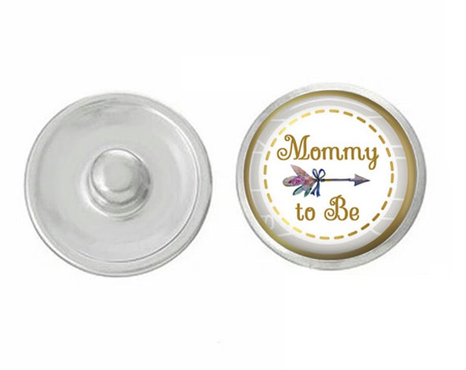 Mommy To Be - Compatible with Gingersnaps - Ginger Snaps - Magnolia and Vine - Base Pieces - 18-20mm Snaps - Interchangeable Snap - Snap
