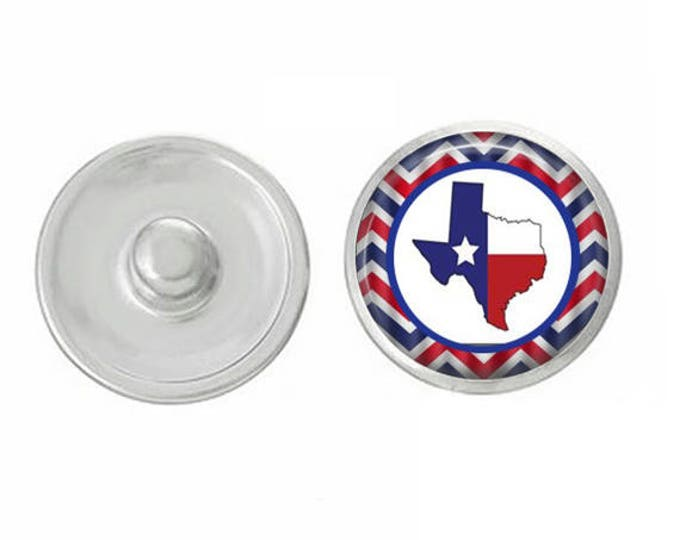 Five Pack of Texas Themed Snaps Pair with our Base Pieces - Compatiable with GingerSnaps and Magnolia and Vine Pieces - HandPressed Snaps