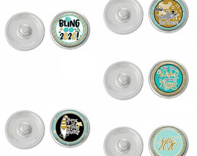 Snap Jewelry - Select from the five snaps - or buy the whole set - Gingersnaps - Magnolia and Vine Compatible Snaps - New Years Snaps