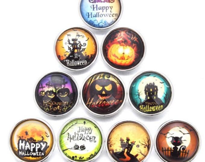 Halloween Themed Snaps - GingerSnaps - Magolia and Vine - Ginger Snaps Compatible - Halloween Pumpkin - Halloween Cat - Happy Halloween