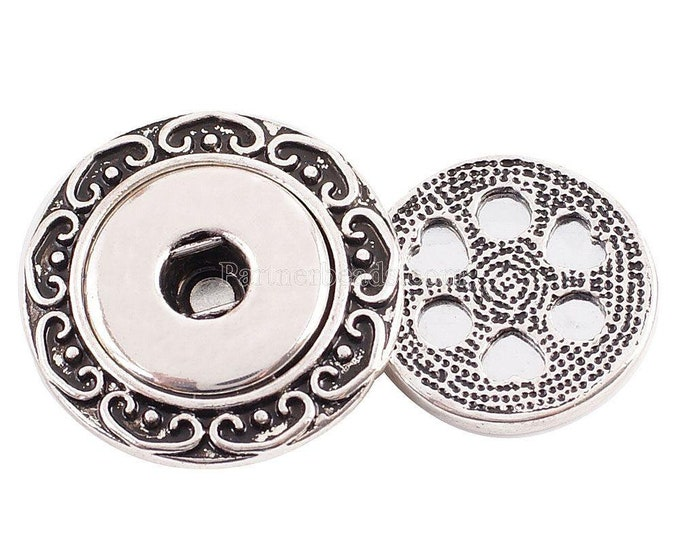 Magnetic Snap Brooch - Attaches to Lapels - Purses - With Strong Magnetic Back - Compatible with Gingersnaps -Magnolia and Vine - 18-20mm
