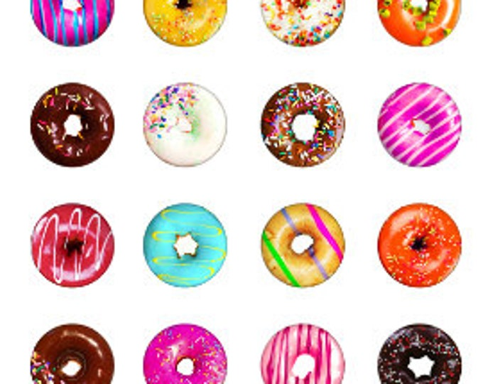 Donut Themed Snaps - Wear your Favorite Treat - Compatible with Gingersnaps - Magnolia and Vine 18mm Snaps - Frosted Donut Snaps - Handpress
