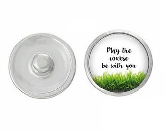 My the Course Be With You Golf Snap Pair with our Base Pieces - Compatiable with GingerSnaps and Magnolia and Vine Pieces