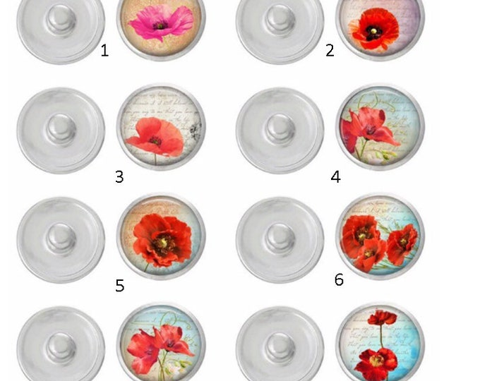 Poppies Snap - Ginger Snaps - Gingersnaps - Magnolia and Vine Compatible - Stunning Popplies Snaps - Select 1 or the Whole Set