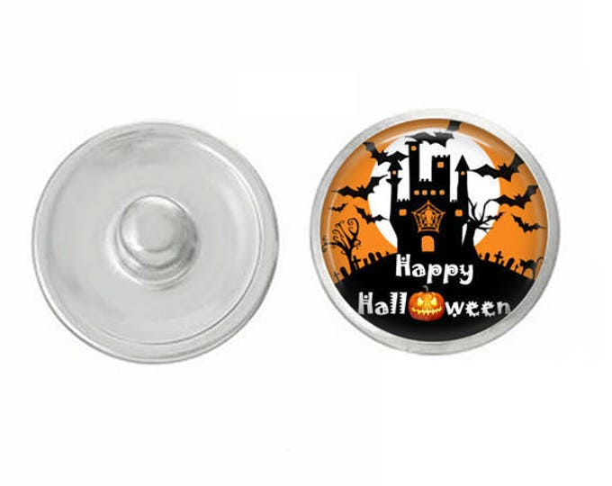 Haunted House Snap for Jewelry - Bracelets - Charm Bracelets - Compatible with Gingersnap - Ginger Snaps - Noosa - Chunk - 18mm Snap Jewelry