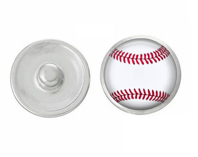 Sports Themed Snaps - Pair with our Base Pieces - Coordinate with 18-20mm Snap Bases - Gingersnaps - Magnolia and Vine - Compatible