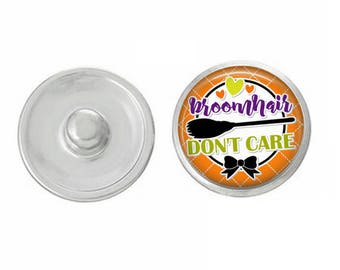Broomhair Don't Care Snap for Jewelry - Bracelets - Charm Bracelets - Compatible with Gingersnaps - Ginger Snaps - Noosa - Chunk