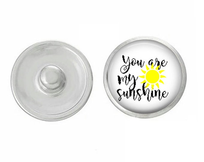 You Are My Sunshine - Wedding - Bachelorette- Custom Snap - Ginger Snaps - Magnolia and Vine - Interchangeable Snap - Handpress