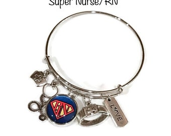 Super RN Bangle Bracelet - Coordinates with Studio66 LLC Snaps - Gingersnaps - Ginger Snaps - Magnolia and Vine Snaps - Customize
