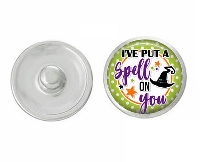 I've Put a Spell on You Snap for Jewelry - Bracelets - Charm Bracelets - Compatible with Gingersnaps - Ginger Snaps - Noosa - Chunk