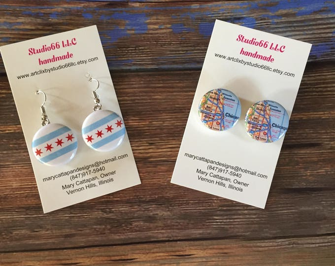 French Hook or Stud Earring Bases - State Love Collection