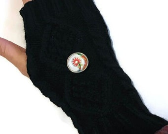 Handwarmers - Gloves - with Interchangeable Snap Base - Gingersnaps - Ginger Snaps - Magnolia and Vine - Snap Jewelry - Mittens