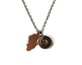 Illinois Snap Pendant with Snap - Pair with a Snap - Gingersnaps - Ginger Snaps - Magnolia and Vine - Compatible with 18-20mm Snaps