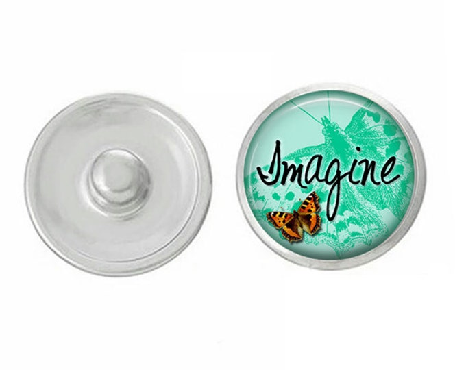 ArtPoppers Snap Charms - Snap Jewelry - Noosa Jewelry - Gingersnaps Jewelry - Pendants  - Bracelets - Imagine Teal - Interchangeable