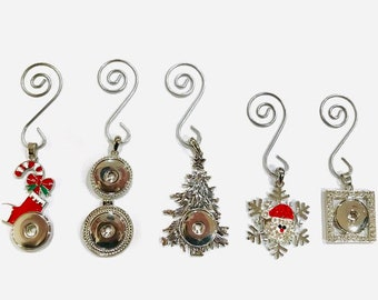Holiday - Christmas Tree Ornament - Snap Jewelry Ornament - with Interchangeable Snaps
