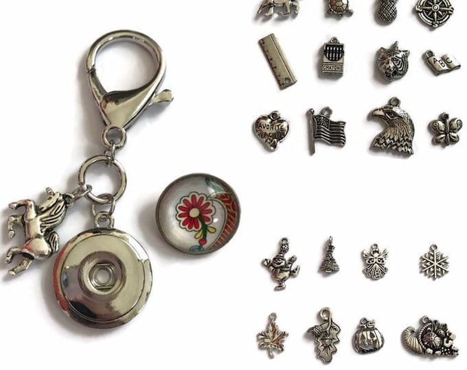 Purse - Backpack - Keychain Charm - Zipper Charm - Stitch marker- Teacher Gifts - Compatible with Gingersnaps and Magnolia and Vine