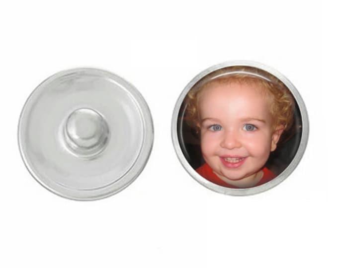Custom Photo Snap - Custom Image Snap - Ginger Snaps - Gingersnaps - Magnolia and Vine - Customize with Any Image, Saying or Logo