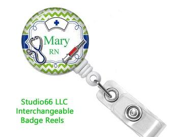 Custom Badge Reel - Button Badge Reel - Name Badge Holders - Cute Badge Reels - Unique Retractable ID Badge Holder - Studio66 LLC