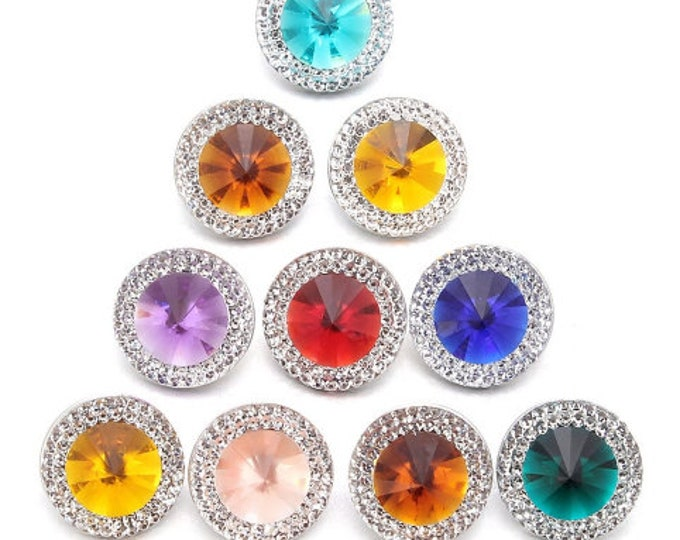 Sparkly Snaps - Compatible with Gingersnaps - Magnolia and Vine - 18mm Snap Bases - Available in a Variety of Colors -