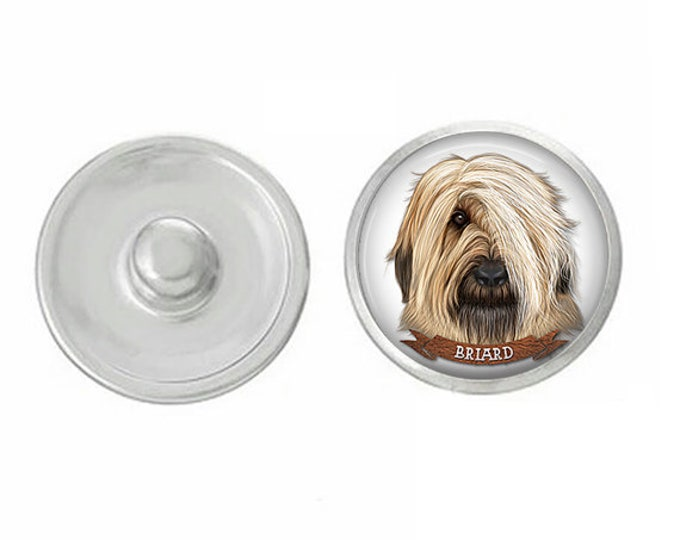 Dog Breed Snaps - Dog Lovers - Compatible with GingerSnaps - Ginger Snaps - Magnolia and Vine Snaps - Briard - Mastiff - Briard - Basset
