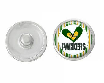 Love My Packers Snap - Pair with Our Base Pieces - Also Coordinates with 18-20mm GingerSnaps and Magnolia and Vine Base Pieces