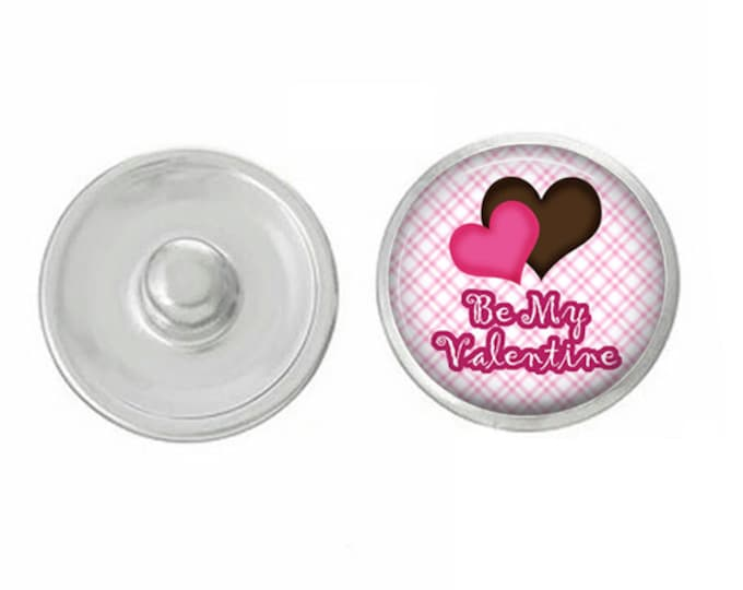Be My Valentine - Compatible with Studio66 LLC -  Gingersnaps - Magnolia and Vine - Noosa 18-20mm Base - Handpressed Snaps