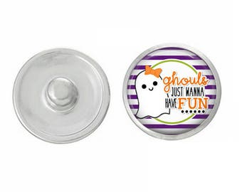 Ghouls Just Want to Have Fun for Jewelry - Bracelets - Charm Bracelets - Compatible with Gingersnaps - Ginger Snaps - Noosa - Chunk