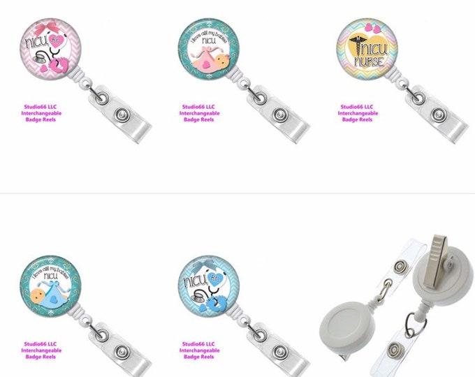 NICU - RN - Nurse - I Love All My Babies - Badge Reel - Button Badge Reel - Name Badge Holders - Unique Retractable ID Badge Holder